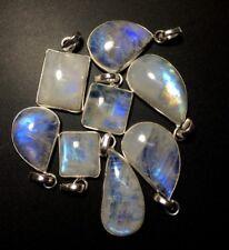 Clearance 8 Rainbow Moonstone Silver Overlay Baby Pendants Wholesale IMG 5873