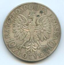 Pologne République 10 Zlotych argent 1933