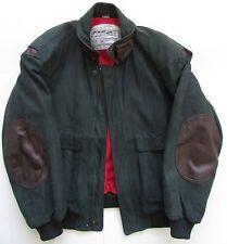 Sawyer of Napa Green Leather Bomber Coat/ Jacket Sz L/50