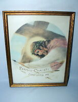 "Vintage Print Passio Christi Conforta Me 8"" X 10"" Signed Christian Jesus"