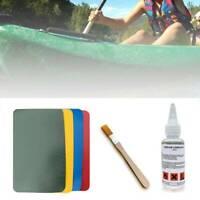 PVC Repair Patch Glue Tool Kit Inflatable Boat Kayak Dinghy Rib Canoe Accessory.