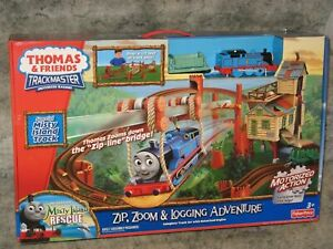 Trackmaster Zip,Zoom&Logging Adventure NEW Thomas Tank Engine railroad train set