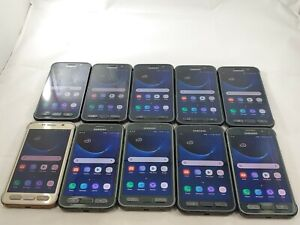 LOT of 10 Samsung Galaxy S7 Active G891A GSM Unlocked Smartphone Assorted  #A065