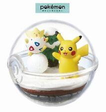 RE-MENT Pokemon Terrarium Collection 2 Poke Ball Case Figure Togepi & Pikachu