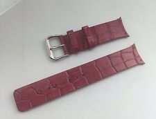 New Original Fossil Special Fit Pink Embossed Leather Watch Band 22 Mm