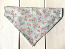 Handmade Beige Ditsy Floral Over Collar Dog Bandana - x-small