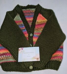 Hand knitted baby's Cardigan 12- 18 months