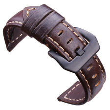 Genuine Leather Watch Band Strap 20mm 22mm 24mm Dark Brown Vintage Watchbands