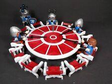 Lote Mesa Rey Arturo + sillas medieval accesorios playmobil impresión 3d rojo