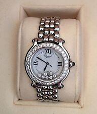 Chopard Happy Sport Ladies Diamond Watch 1.83 CTW White Gold/Stainless Steel EUC