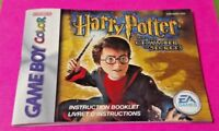 Harry Potter Chamber  - Nintendo Game Boy Color Instruction MANUAL ONLY No Game