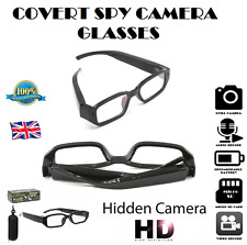 COVERT CAMERA GLASSES Video Audio HD Recording Device Discreet Sunglasses