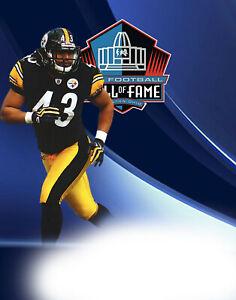 Pittsburgh Steelers Lithograph print of  Troy Polamalu 2020 HOF 11 x 14