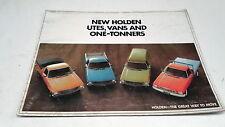 1973 HOLDEN HQ UTE VAN 1-Tonners   Australian Sales Brochure  RARE