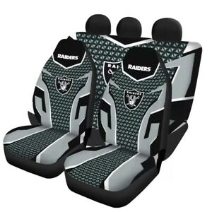 Las Vegas Raiders Universal Car Seat Cover 5 Seater Front Rear Cushion Protector