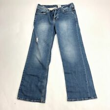 Mens 28x28 Monkee Genes Jeans Button Fly Organic Cotton Strait Leg