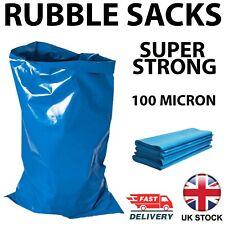 More details for rubble sacks builders waste rubbish bags strong tough heavy duty bulk blue