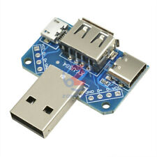 USB Female to Male 2.54mm Type-C to Micro USB to 4P Adapter Converter Board