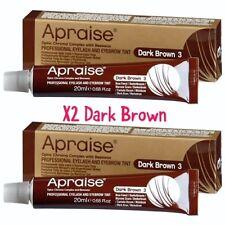Apraise Dark Brown Eyebrow & Eyelash Tint x2 Tubes