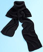 2in1 Rollkragen Schal Rollkragenschal schwarz Kragen Einsatz Damen Winter