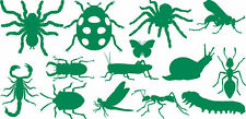 Kids Wall Sticker Set of Bugs/Insects Available 3 Sizes