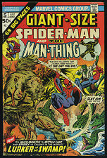 GIANT-SIZE SPIDER-MAN #5 July 1975 MAN-THING LIZARD App MARVEL 68-Pages B/O