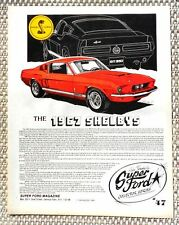 1967 FORD SHELBY COBRA MUSTANG GT 350 GT 500 CAR LITERATURE FACT SHEET 47
