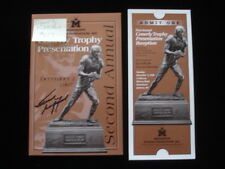 1997 Frank Gifford Autographed Cornerly Trophy Presentation Program B&E Holo