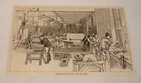 1887 magazine engraving ~ IMPROVED TOOLS OF TODAY