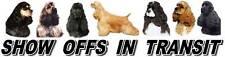AMERICAN COCKER Show Off Dog Car Sticker By Starprint
