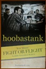 Hoobastank Fight Or Flight Discontinued Ltd Ed Rare New Poster +Free Rock Poster