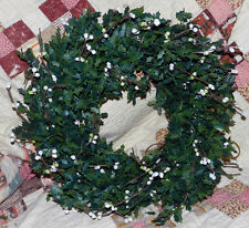 Nice Artificial Holly Wreath! Very Cute!