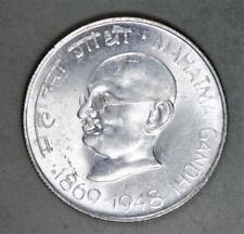 India 1969 10 Rupees Silver Coin - Mahatma Gandhi Commemorative