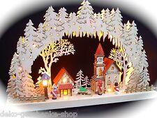 3d LED ARCOS DE LUCES arbotantes 3 Niños Invierno y Iglesia 43 x 30cm 10022