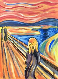 Edvard Munch The Scream Surreal Handpainted Reproduction Painting