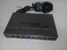 Netgear GS108Tv2 8 Port Smart Switch 10/100/1000 PoE **Warranty & Delivery inc**