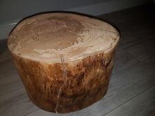 bespoke handmade log side table. modern/contemporary