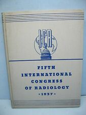 1937 Portrait Catalogue, 5th International Congress of Radiology, Chicago Yrbk