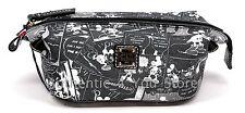 Disney Dooney & Bourke Mickey Minnie Negative Comic Strip Cosmetic Pouch Bag #4