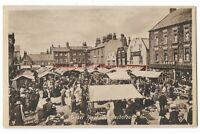 Yorkshire Knaresborough Market Place Vintage Postcard 16.10