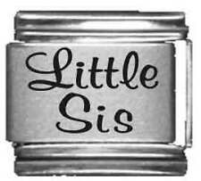 Clearly Charming Little Sis Laser Italian Charm