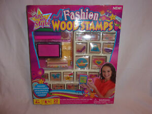Fashion 20 Craft Youth Child Teen Wood Stamps Just My Style Toy