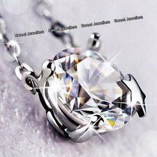 Xmas Gifts For Her 925 Silver Star Crystal Diamond Necklace Wife Girl Lady Women