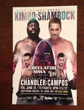 "Kimbo Slice Vs Ken Shamrock Bellator 138 Small Poster St Louis Mo MMA 4""'x 6"""