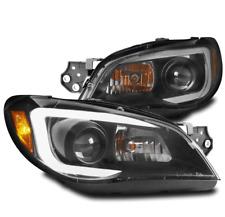 FOR 06-07 SUBARU IMPREZA WRX LED BAR PROJECTOR HEADLIGHTS LAMP BLACK LEFT+RIGHT