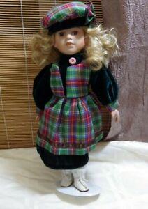 Vintage Porcelain Doll - Tartan Costume