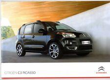 Citroen C3 Picasso 2009-10 UK Market Sales Brochure VT VTR+ Exclusive