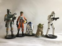 DISNEY STAR WARS EMPIRE STRIKES BACK FIGUREs 5 Pc Boba Fett Yoda r2d2 loose lot