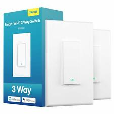 2 Pack meross Smart 3 Way Light Switch Compatible with Alexa Google Home