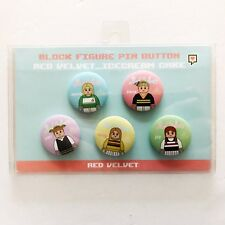 SM Artist POP-UP Store Red Velvet Ice Cream Cake Block Figure Pin Button Set